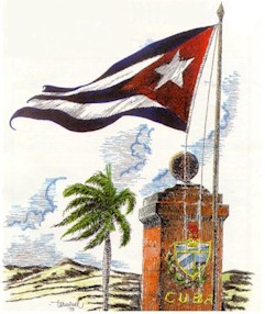 Cuban Flag and Emblem